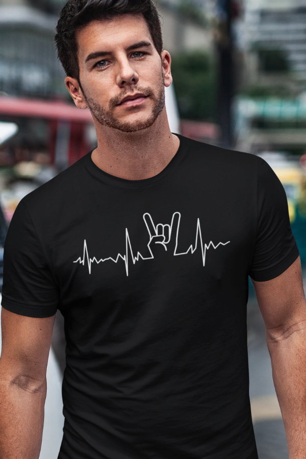 Heavy Metal Heartbeat T-Shirt For Metalheads